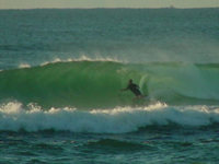 Parksey Tube riding Byron Bay