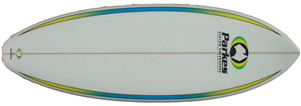 4 FIN ROUNDED SQUARETAIL KNEEBOARD
