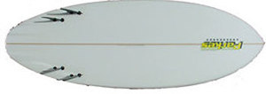 4 FIN KNEEBOARD ROUNDED SQUARETAIL