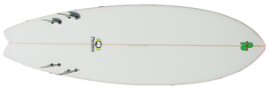 FRIAR TUCK 4 FIN FISH TAIL KNEEBOARD GUN